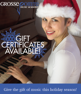 Music Lesson Gift Certificates