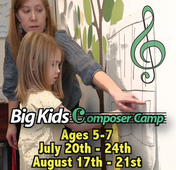 Music Camp for Ages 5 years 6 years 7 years