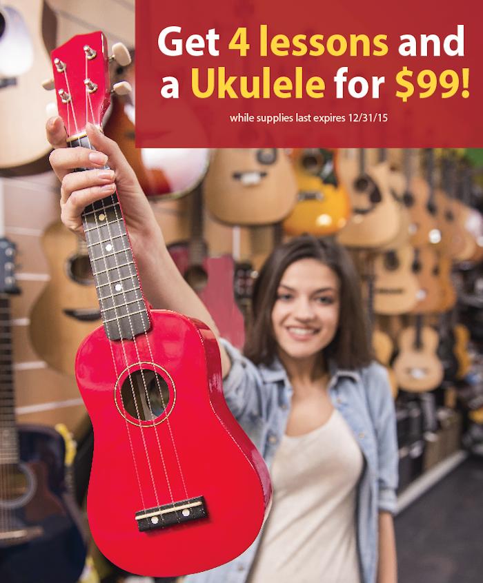 take ukulele lessons